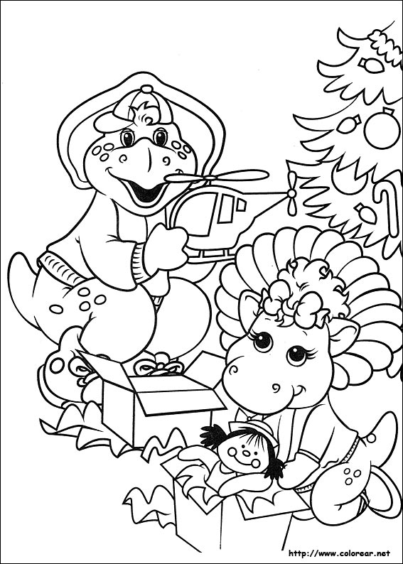 barneys christmas coloring pages - photo#5