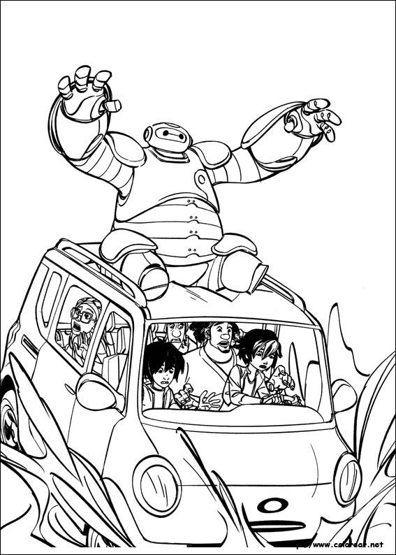 Dibujos para colorear de Big Hero 6