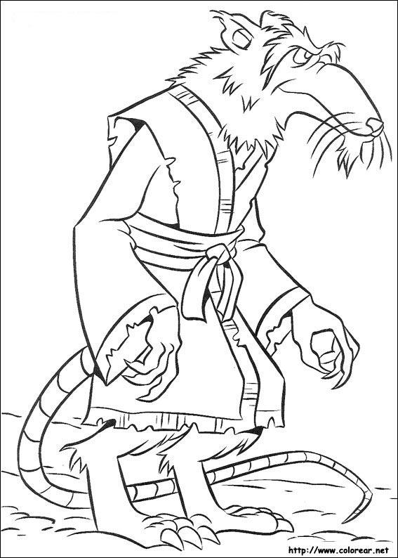 tiger ninja turtles coloring pages - photo#12