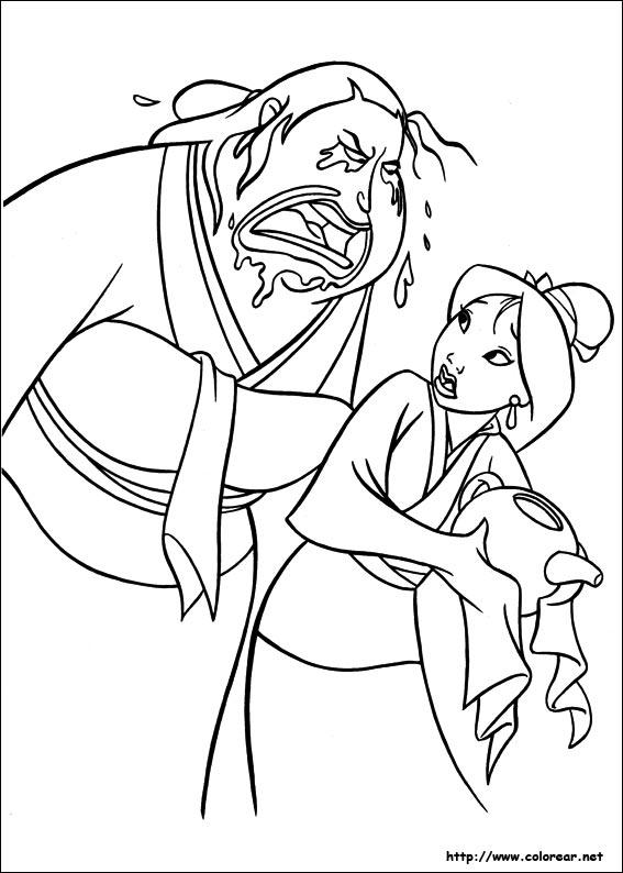 Mulan And Shang Coloring Pages