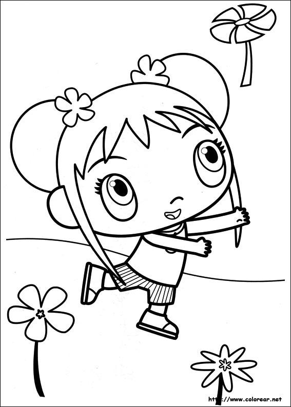 Dibujos para colorear de ni hao kai lan for Kai lan coloring pages