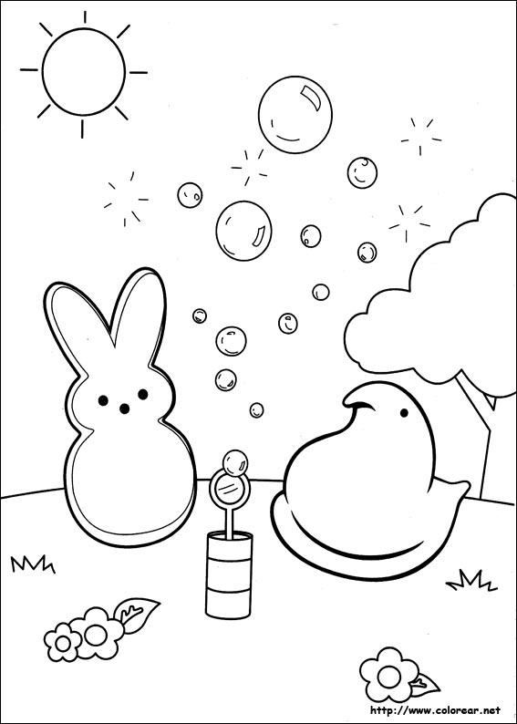 Dibujos Para Colorear De Marshmallow Peeps