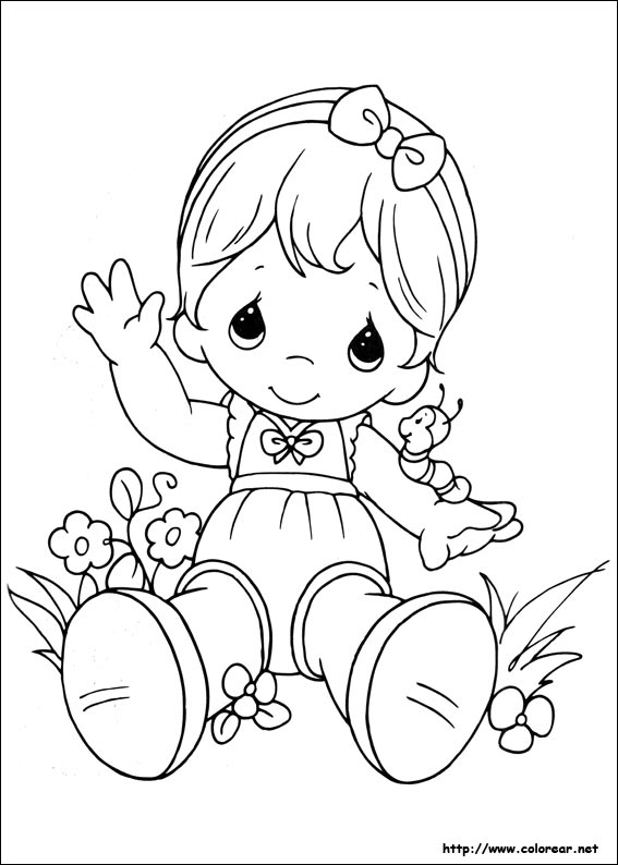 Precious Moments Coloring Page Kids