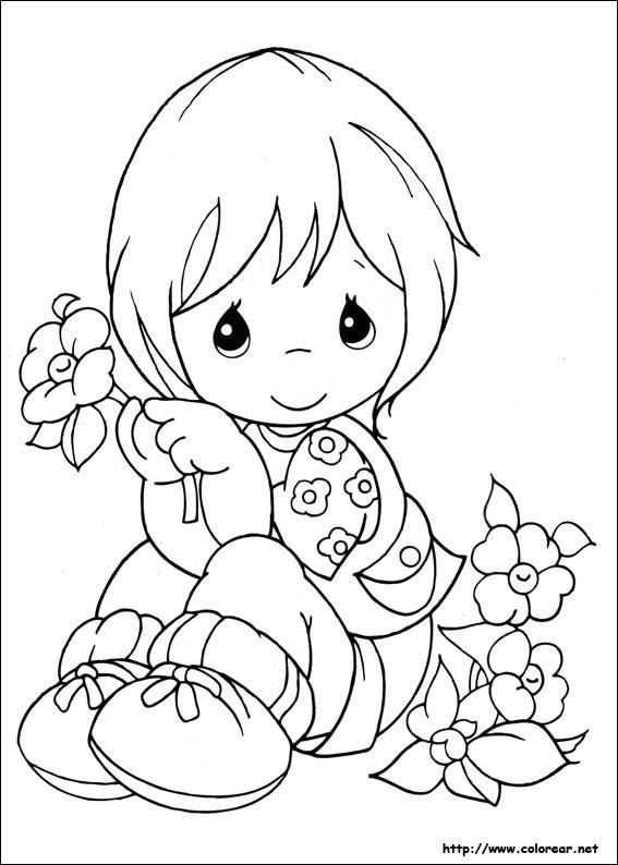 Figuras para colorear de bebés de preciosos momentos - Imagui