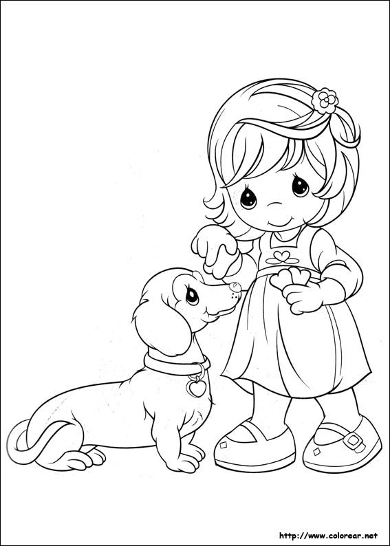 precious moments dog coloring pages - photo#13