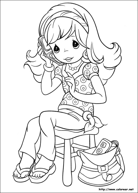 precious moments girl coloring pages