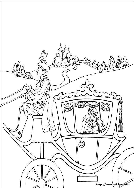 Dibujos para colorear de princesa leonora - Carrosse de princesse ...