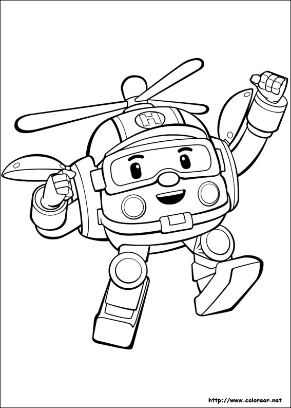 Coloring Pages Robocar Poli : Robocar poli coloring pages sketch page