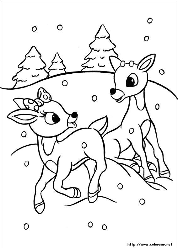 Coloring Pages For Rudolph The Red Nosed Reindeer : Free coloring pages of rudolph