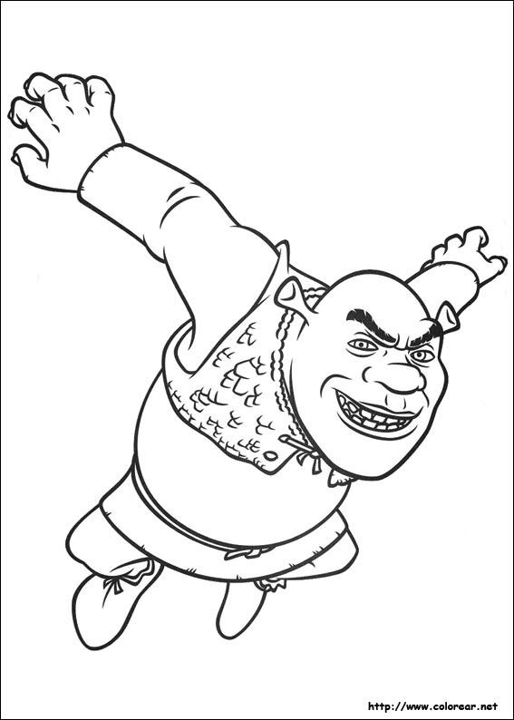 Dibujos para colorear de shrek felices para siempre for Shrek 4 coloring pages
