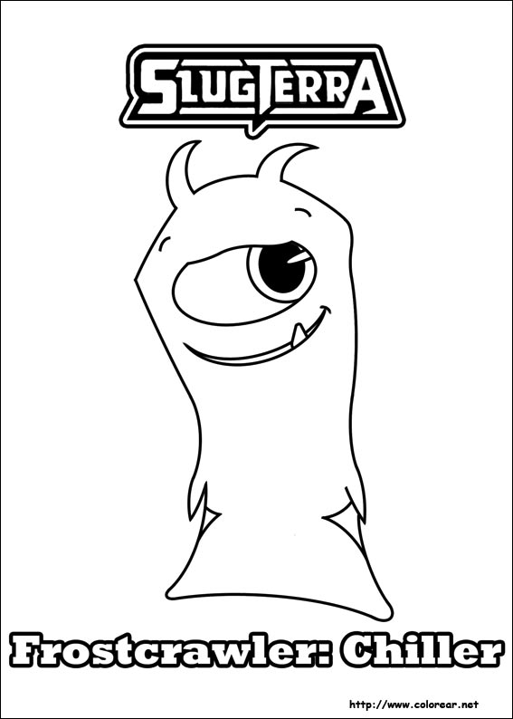 slugterra coloring pages tazerling ghoul - photo#19
