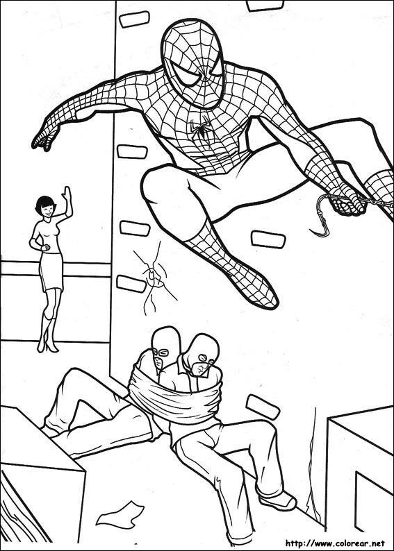 Dibujos para colorear de spiderman for Dibujos de murales para pared