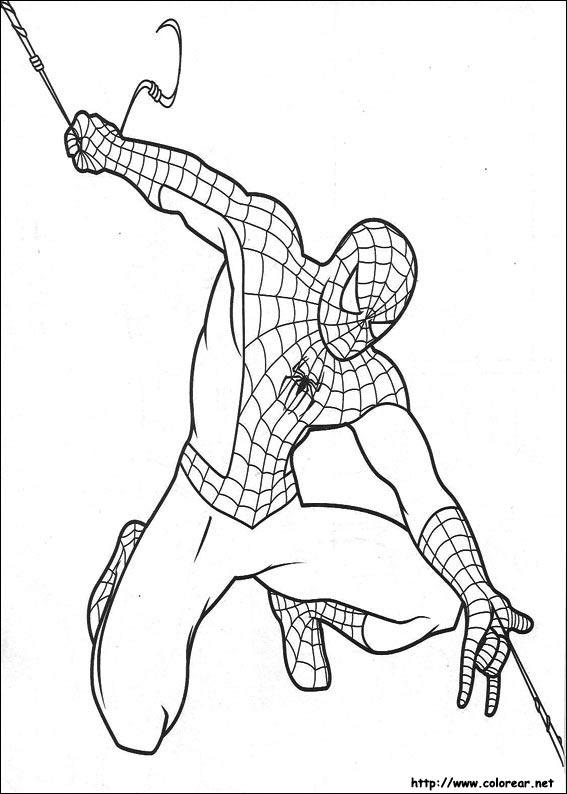dibujo spiderman colorear gratis imprimir: