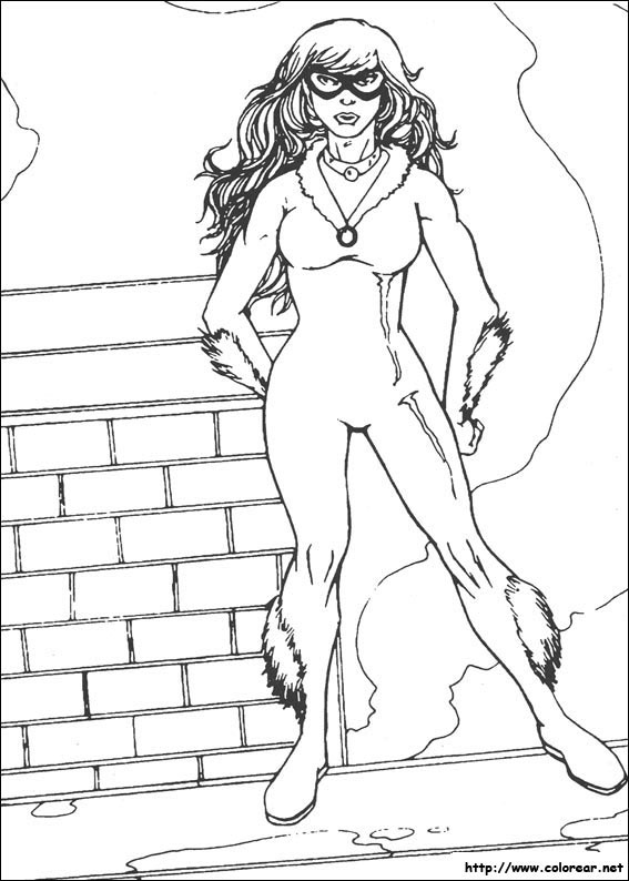 Black Cat Marvel Coloring Pages search for pictures