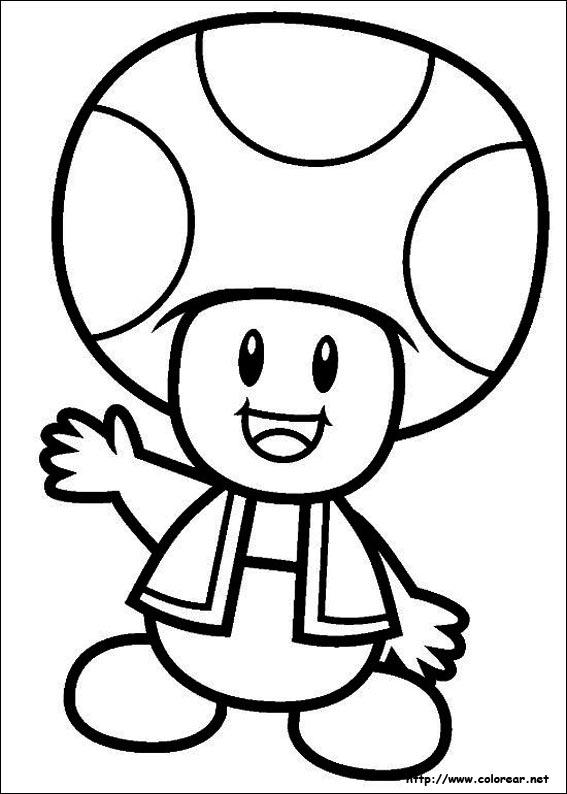 Super Mario Bros Toad Coloring Pages