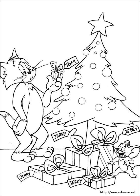 Dibujos para colorear de Tom y Jerry