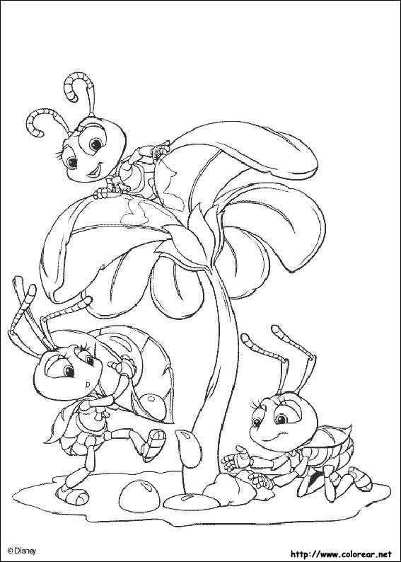 bugs life characters coloring pages - photo#26