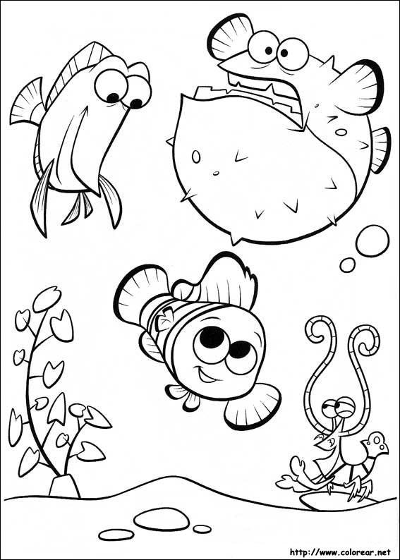 Dibujos Para Colorear Buscando Nemo