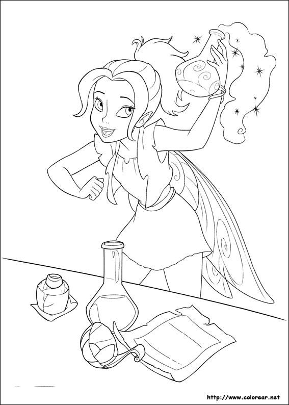 hadas y piratas silver mist coloring pages - photo #4