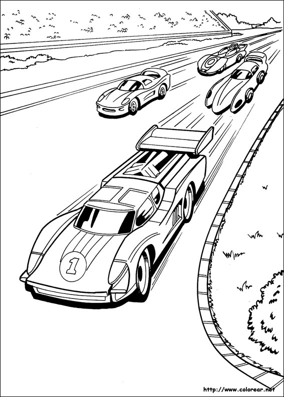 Dibujos para colorear de hot wheels for Hotwheels coloring pages