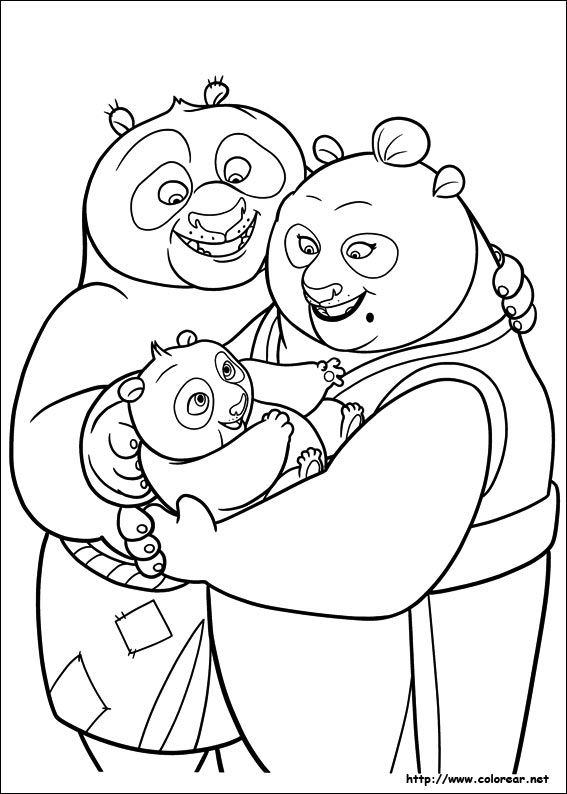 Dibujos para colorear de kung fu panda 2 for Kung fu panda 2 coloring pages