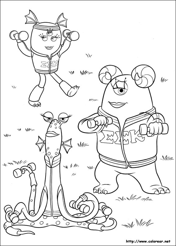 Monsters inc university coloring pages - Clamart