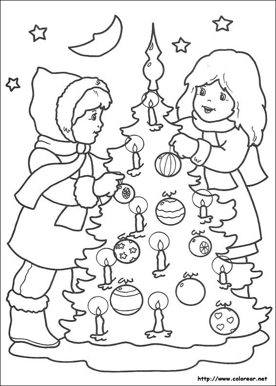Dibujos para colorear de navidad for Dibujos christmas navidad