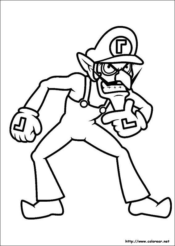 Dibujos para colorear de Super Mario Bros.