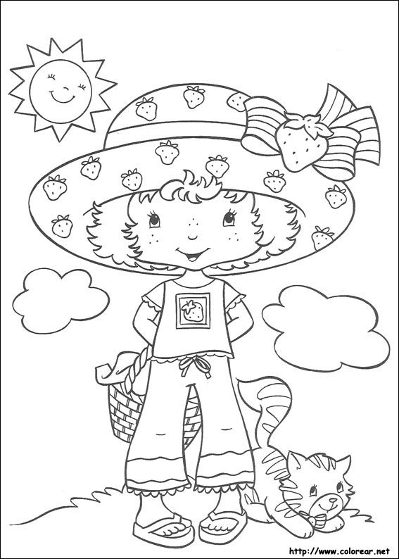 Dibujos Para Colorear Tarta Fresa