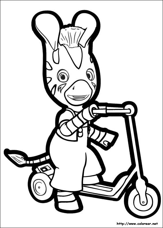 Dibujos para colorear de zou - Coloriage zebre a imprimer ...